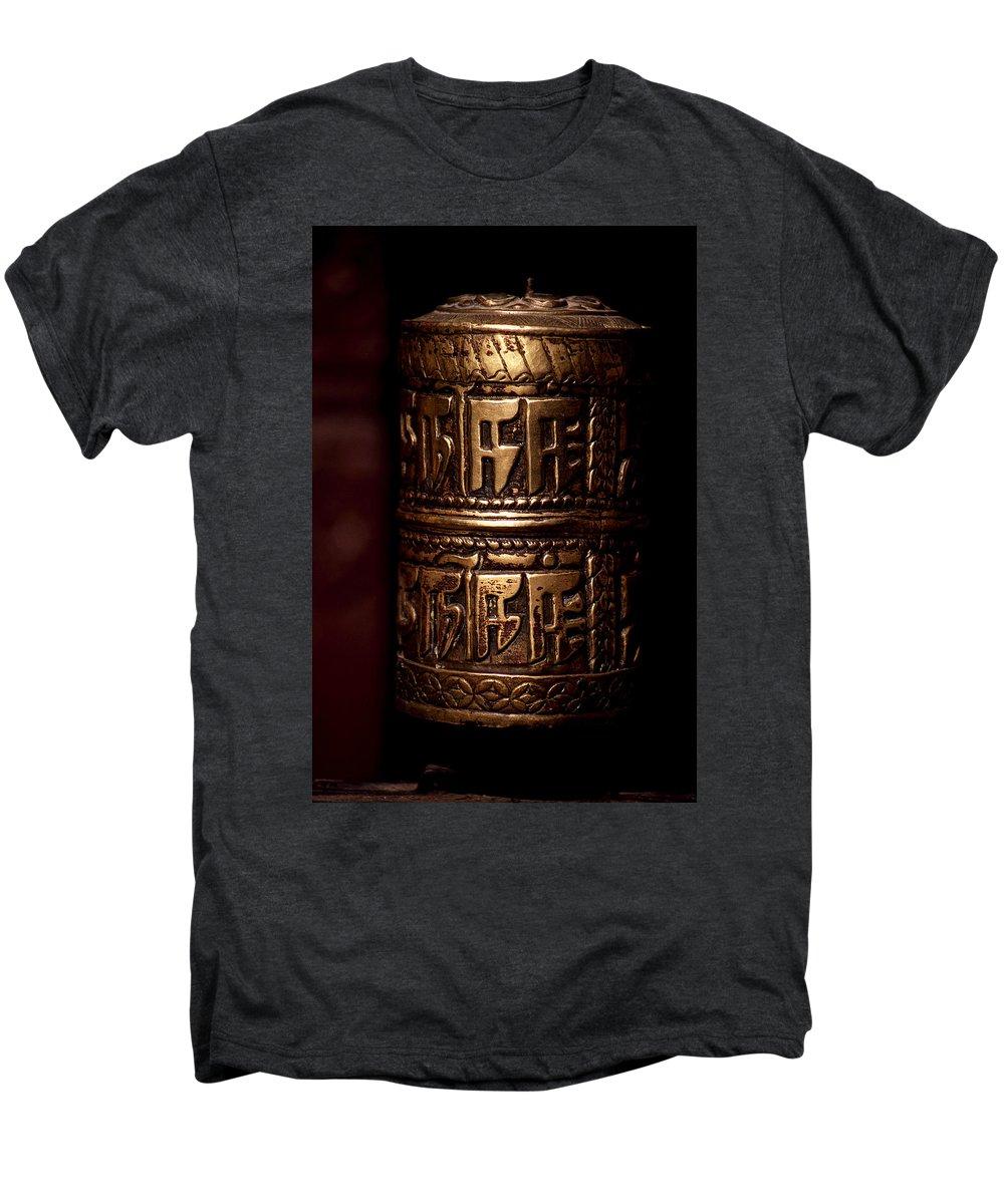 Prayer Wheel Men's Premium T-Shirt featuring the photograph Tibetan Prayer Wheel by Patrick Klauss