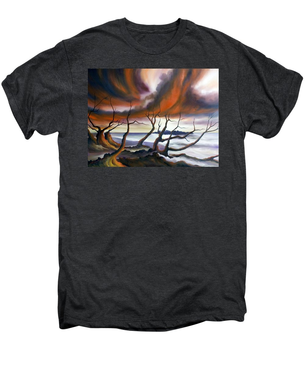 Marsh Men's Premium T-Shirt featuring the painting Tideland by James Christopher Hill