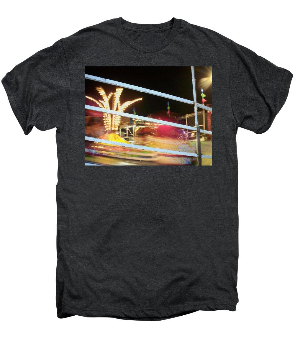 State Fair Men's Premium T-Shirt featuring the photograph Tilt-a-whirl 2 by Anita Burgermeister