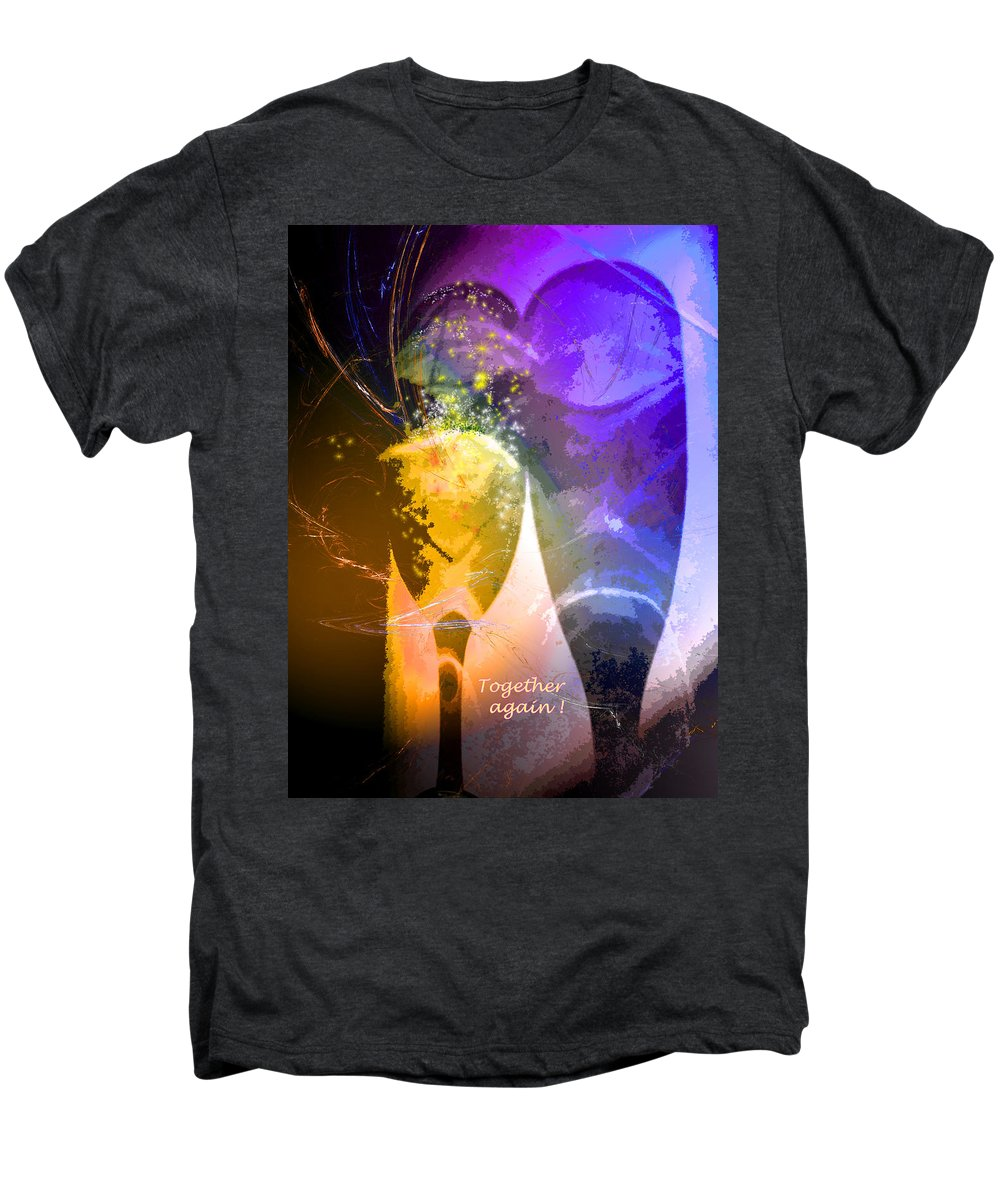Fantasy Men's Premium T-Shirt featuring the photograph Together Again by Miki De Goodaboom