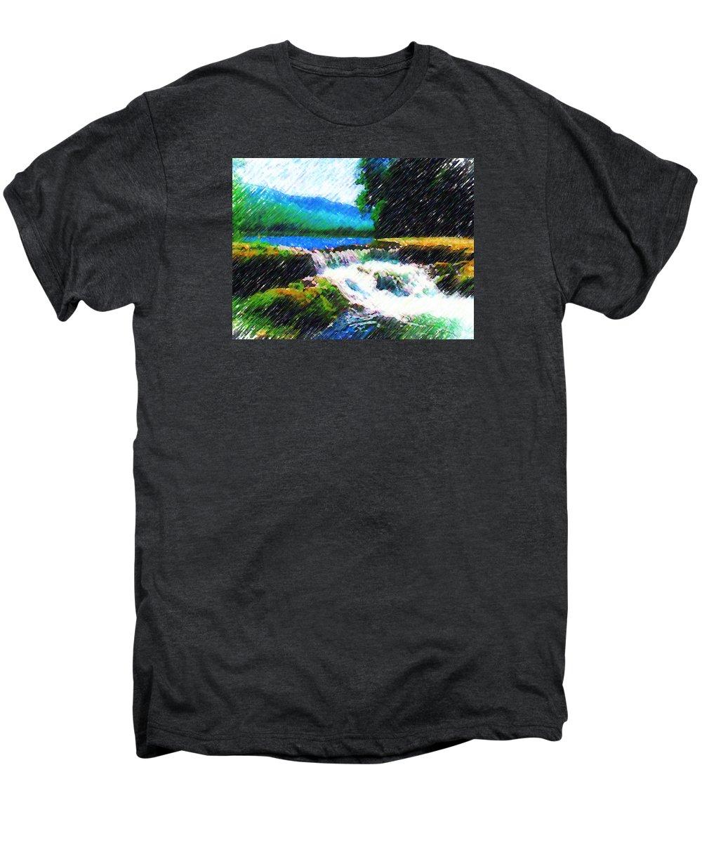 Landscape Men's Premium T-Shirt featuring the photograph Tolhuaca by Madalena Lobao-Tello