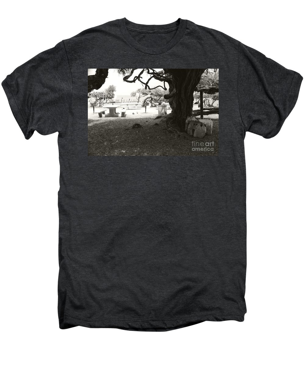 La Jolla Men's Premium T-Shirt featuring the photograph Torrey Pines Baggage Claim by Heather Kirk