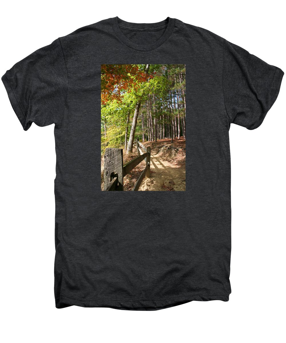 Tree Men's Premium T-Shirt featuring the photograph Tree Trail by Margie Wildblood