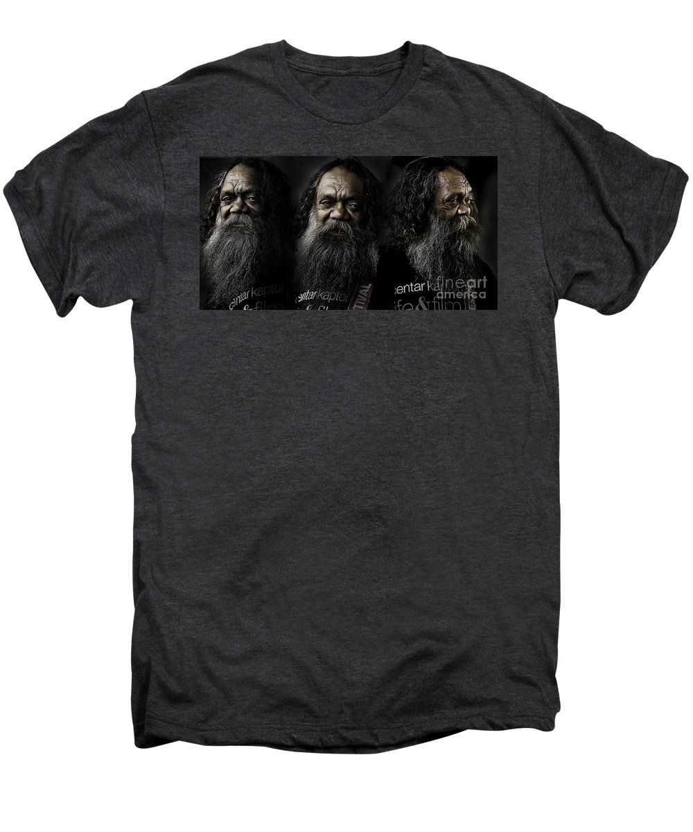 Triptych Men's Premium T-Shirt featuring the photograph Triptych Of Cedric by Avalon Fine Art Photography