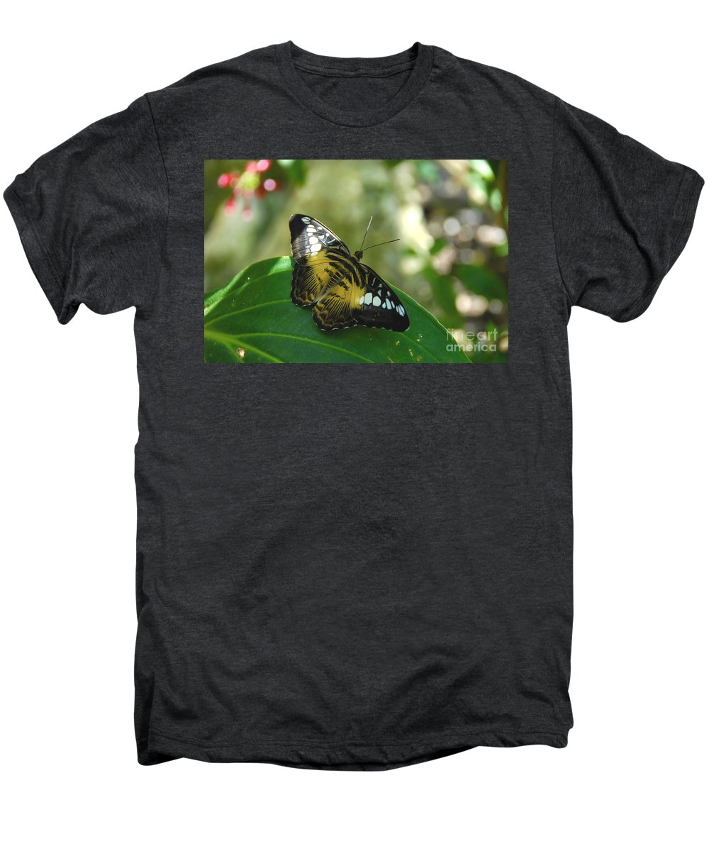 Butterfly Men's Premium T-Shirt featuring the photograph Tropical Garden Beauty by David Lee Thompson