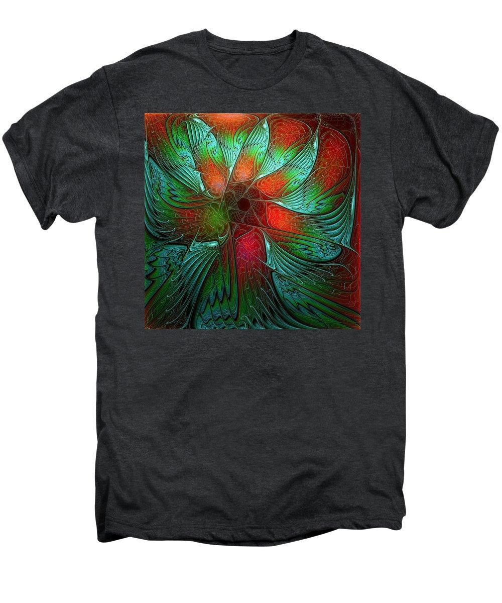 Digital Art Men's Premium T-Shirt featuring the digital art Tropical Tones by Amanda Moore