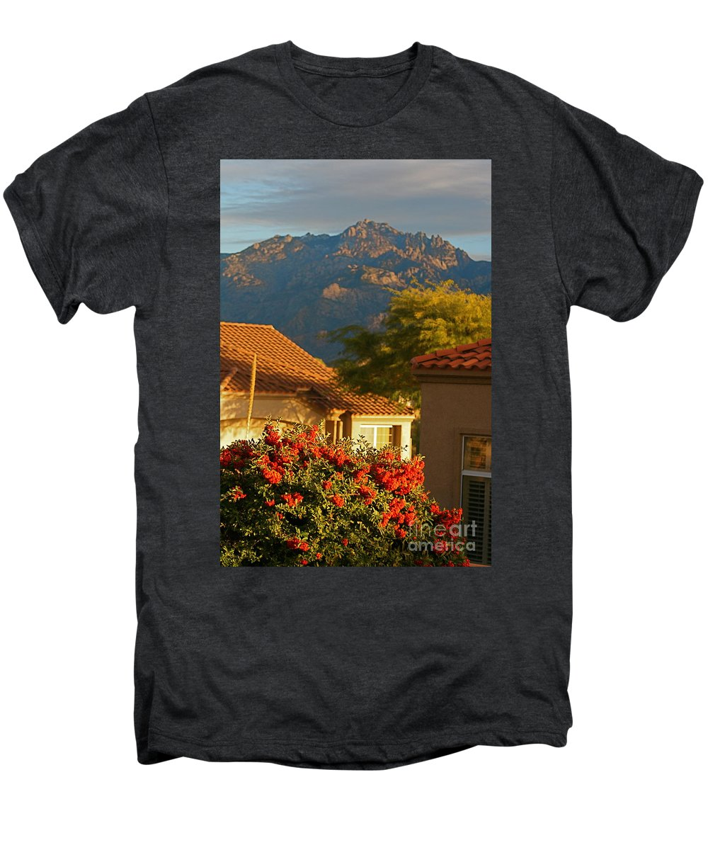 Mountains Men's Premium T-Shirt featuring the photograph Tucson Beauty by Nadine Rippelmeyer