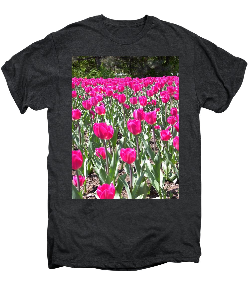 Charity Men's Premium T-Shirt featuring the photograph Tulips by Mary-Lee Sanders
