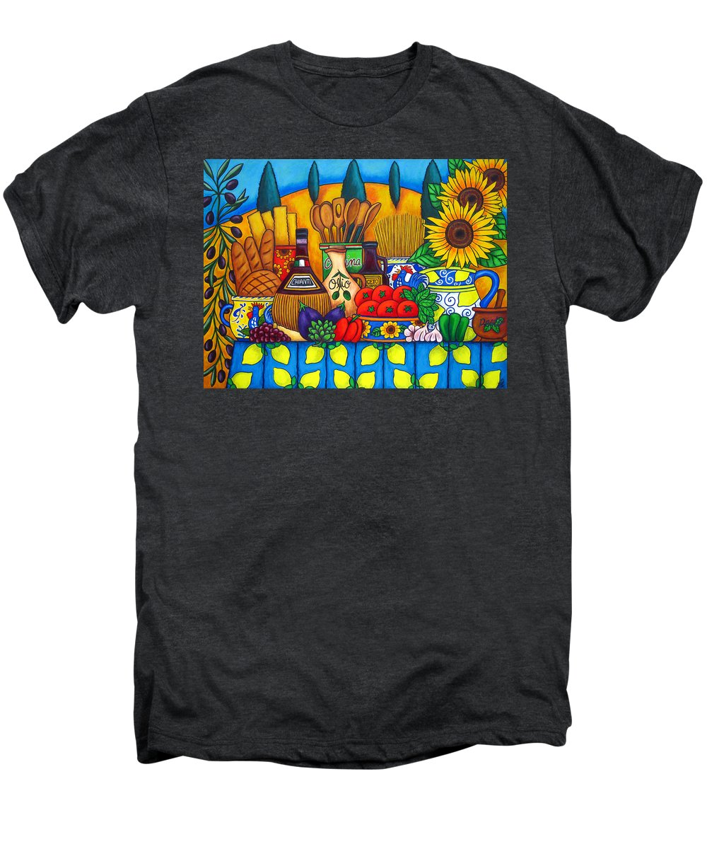 Still Life Men's Premium T-Shirt featuring the painting Tuscany Delights by Lisa Lorenz