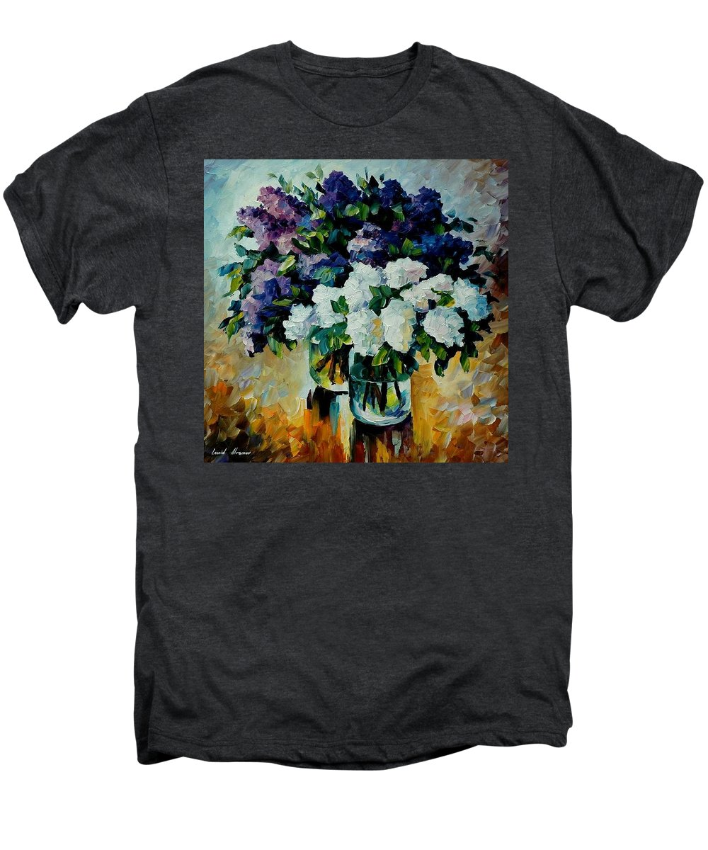 Painting Men's Premium T-Shirt featuring the painting Two Spring Colors by Leonid Afremov