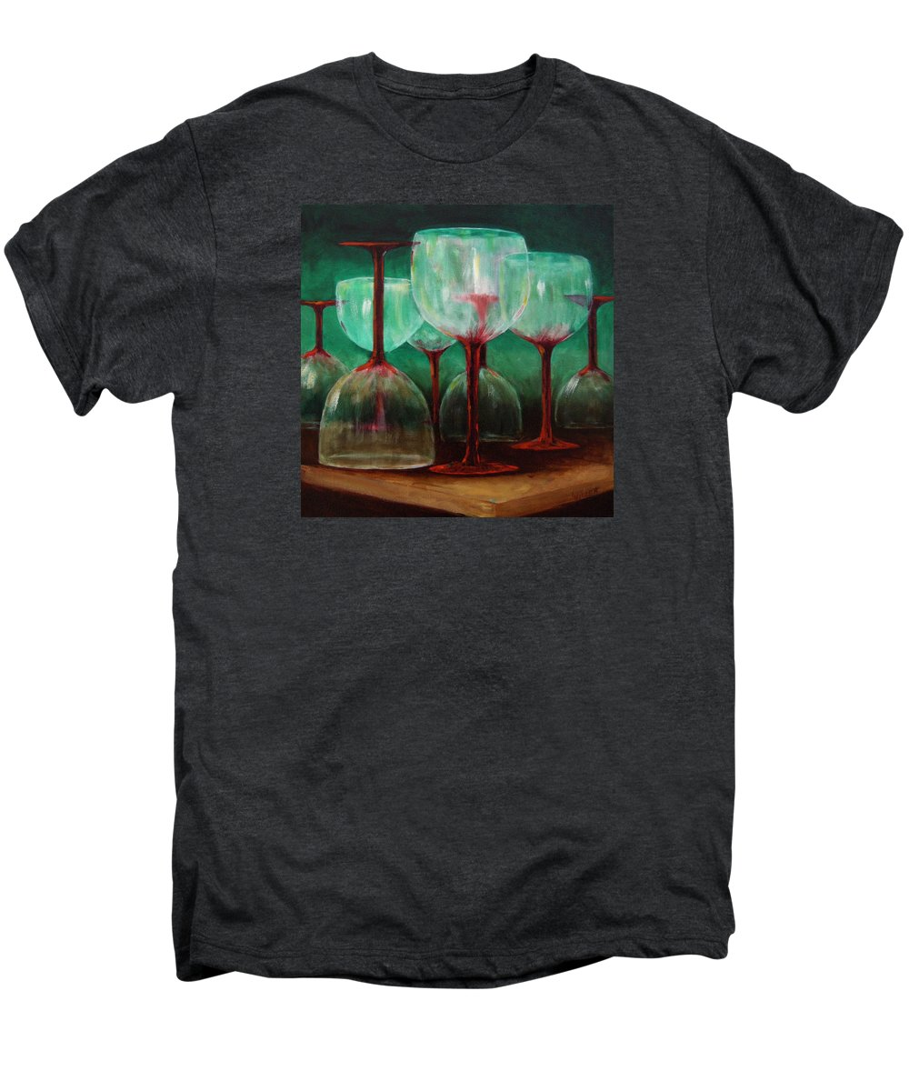 Oil Men's Premium T-Shirt featuring the painting Upsidedown by Linda Hiller