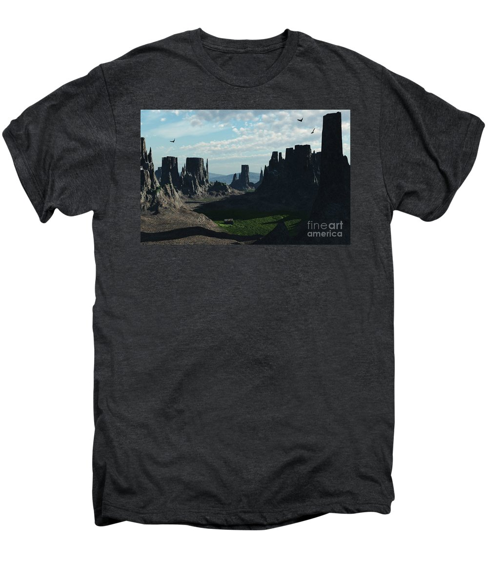 Valley Men's Premium T-Shirt featuring the digital art Valley Of The Kings by Richard Rizzo