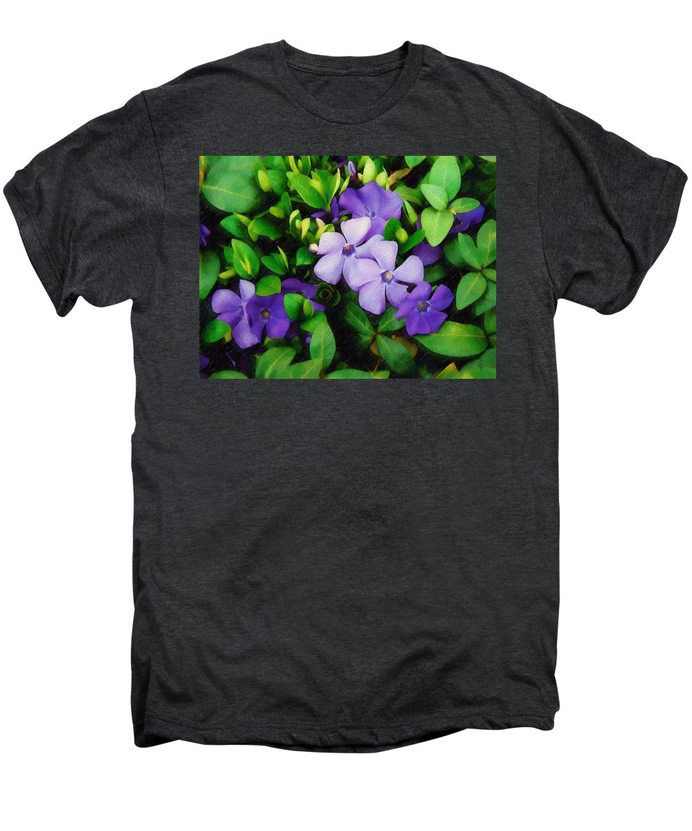Vinca Men's Premium T-Shirt featuring the photograph Vinca by Sandy MacGowan