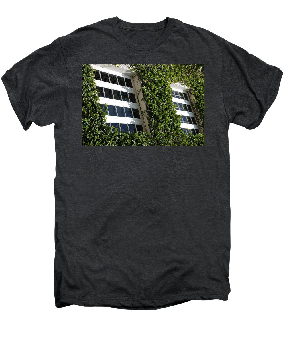 Architecture Men's Premium T-Shirt featuring the photograph Vines And Glass by Rob Hans