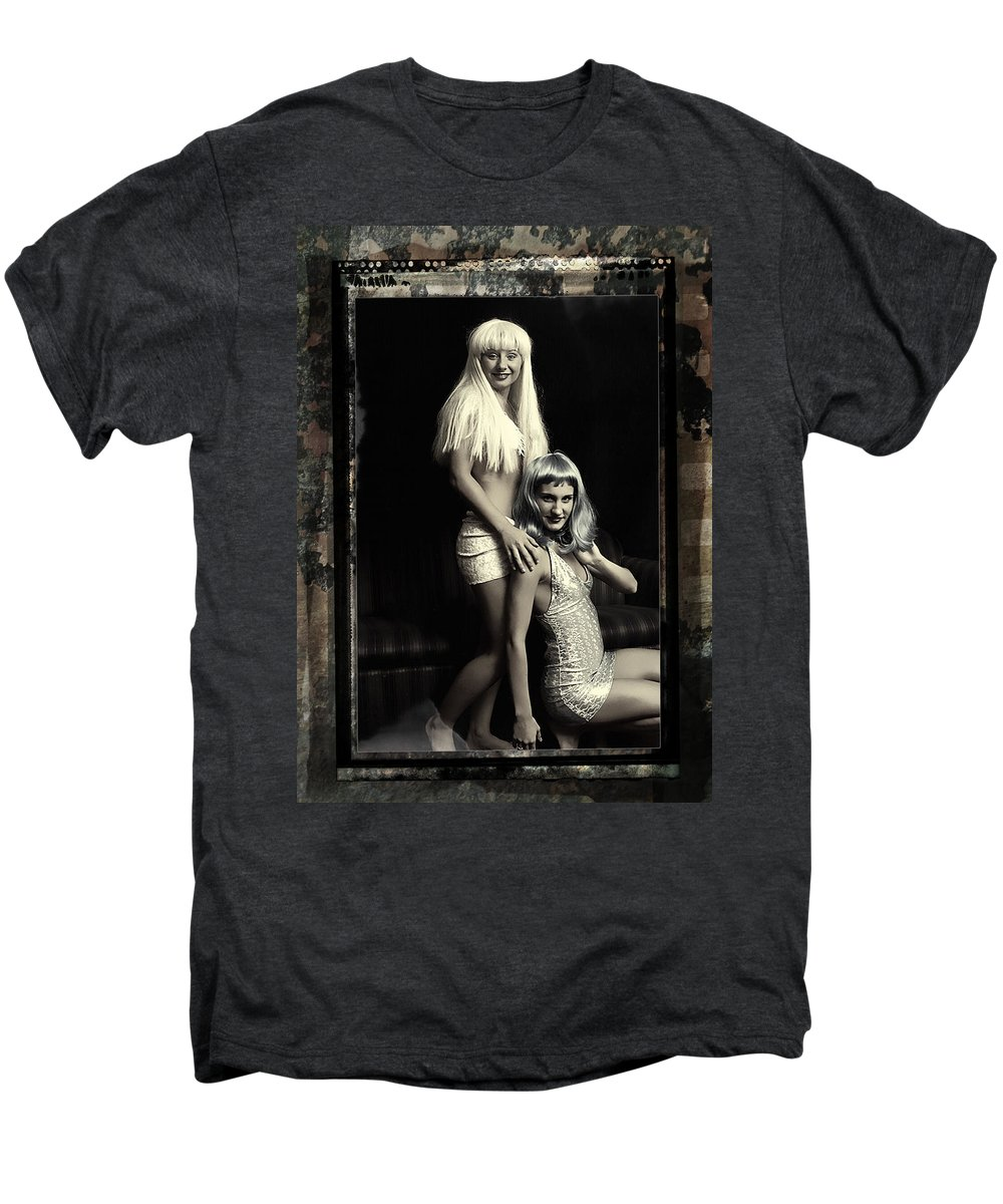 Clay Men's Premium T-Shirt featuring the photograph Vintage Party Girls by Clayton Bruster
