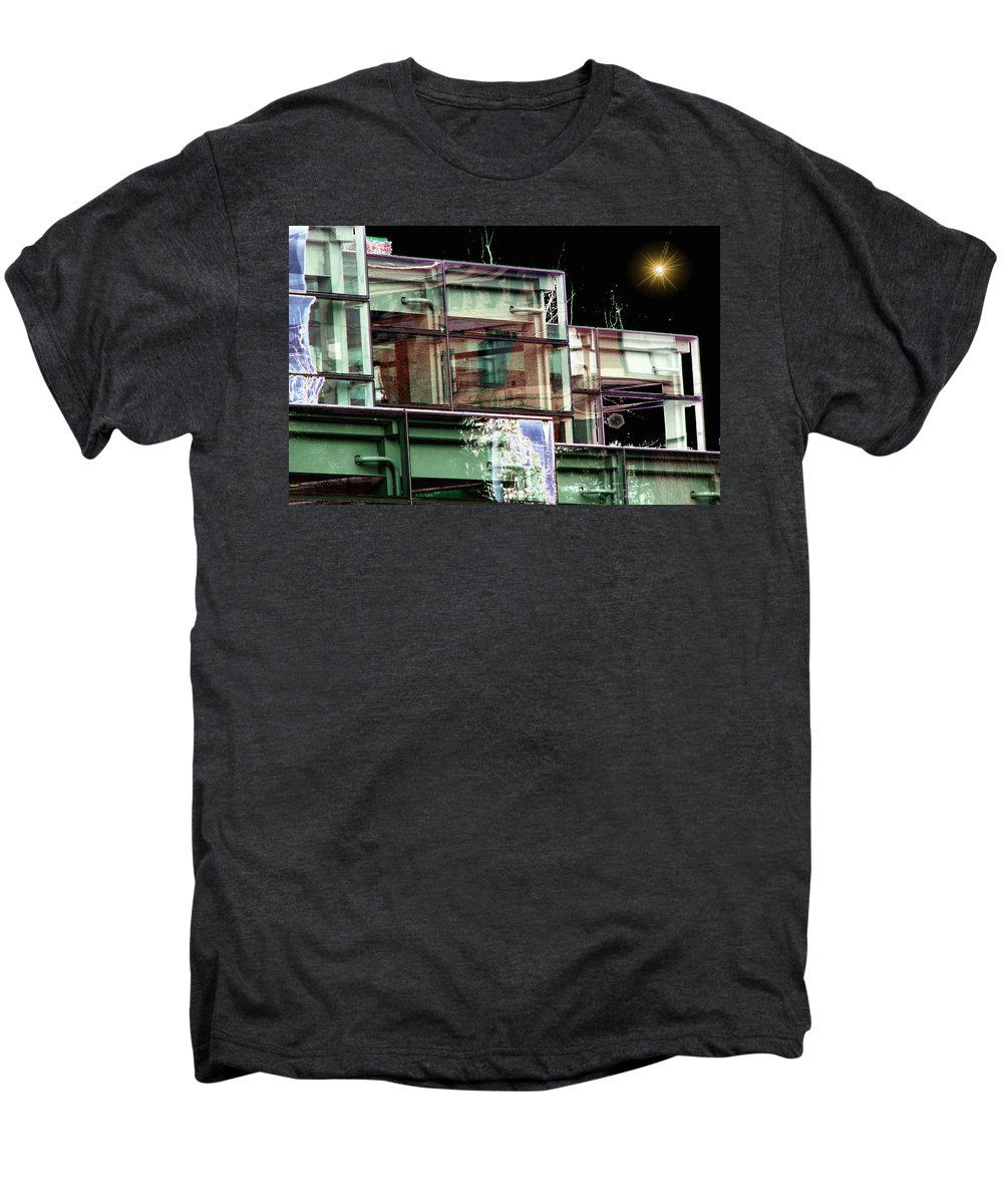 Seattle Men's Premium T-Shirt featuring the digital art Wa State Convention And Trade Center by Tim Allen