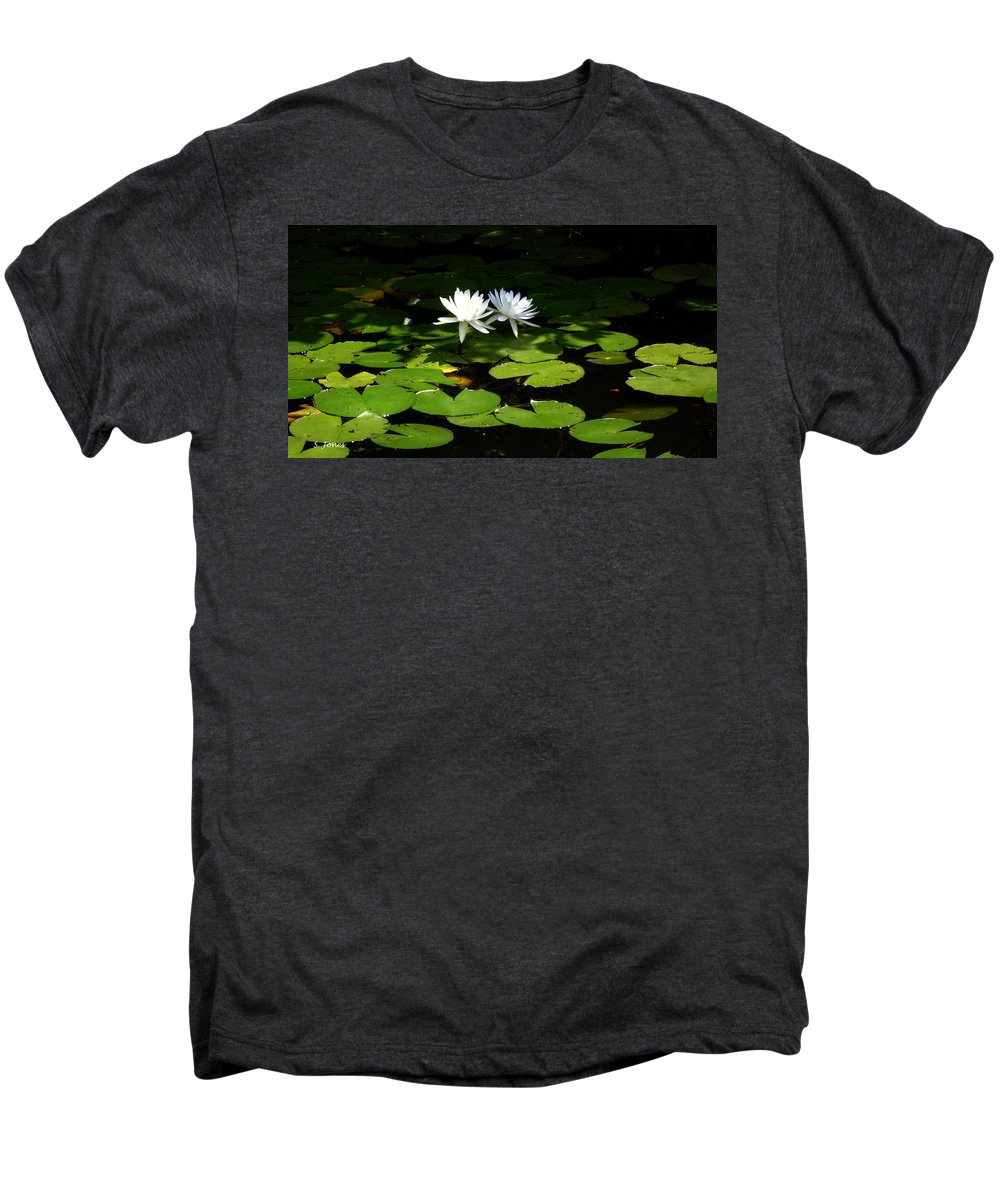 Water Men's Premium T-Shirt featuring the photograph Wading Fairies by Shelley Jones