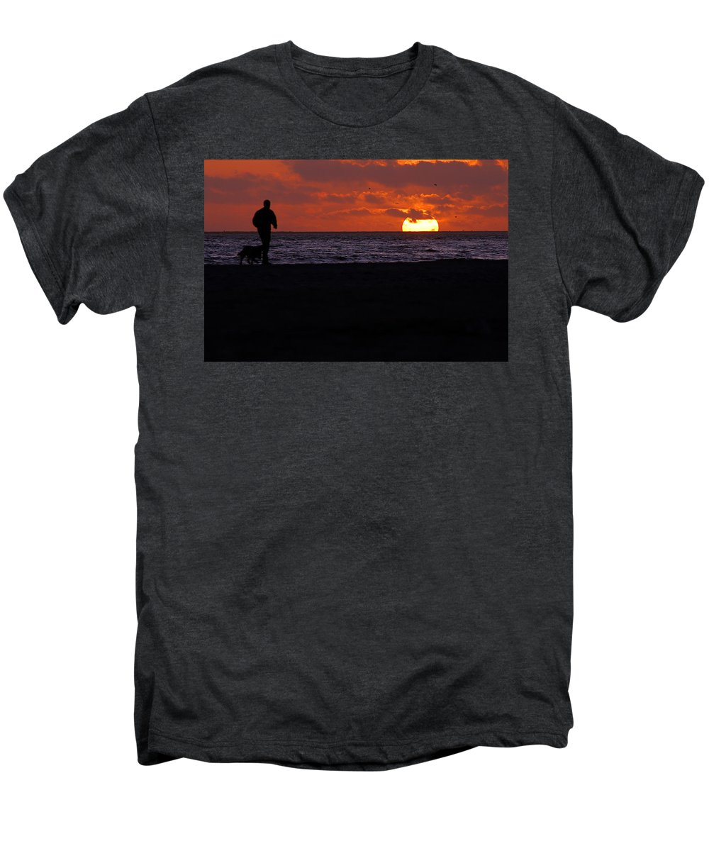 Clay Men's Premium T-Shirt featuring the photograph Walking The Dog by Clayton Bruster