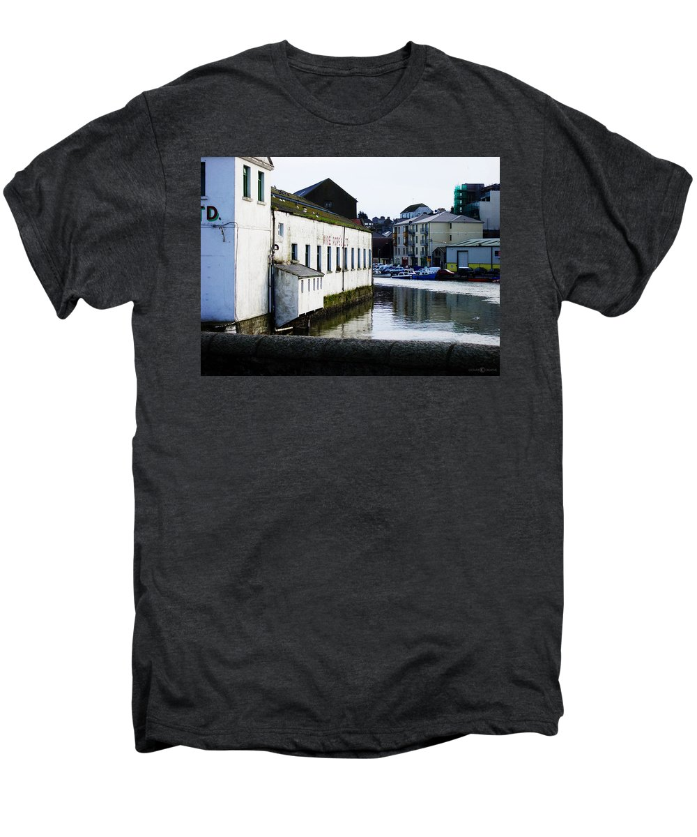 River Men's Premium T-Shirt featuring the photograph Waterfront Factory by Tim Nyberg