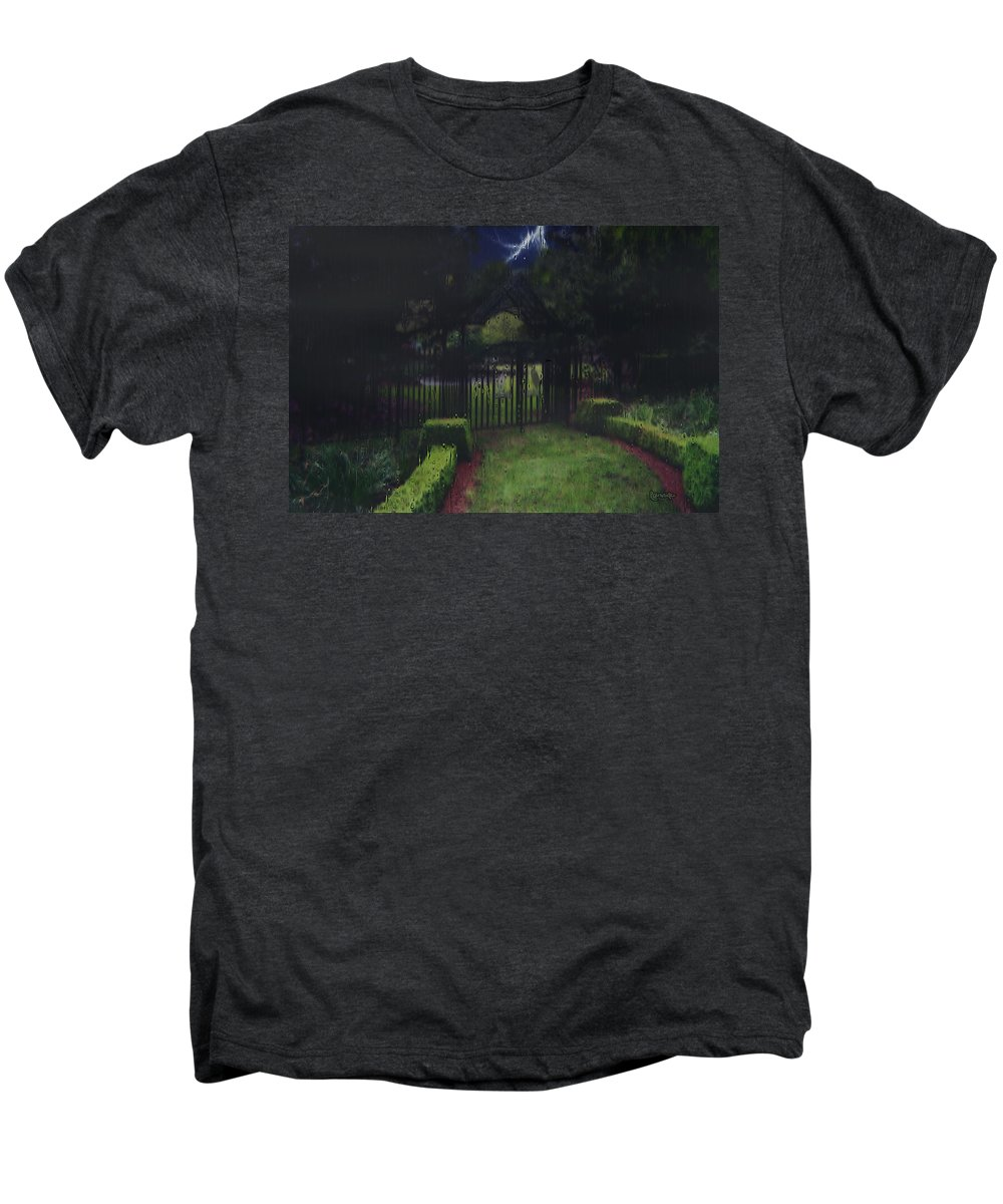 Landscape Men's Premium T-Shirt featuring the painting Welcome To Dudleytown by RC deWinter