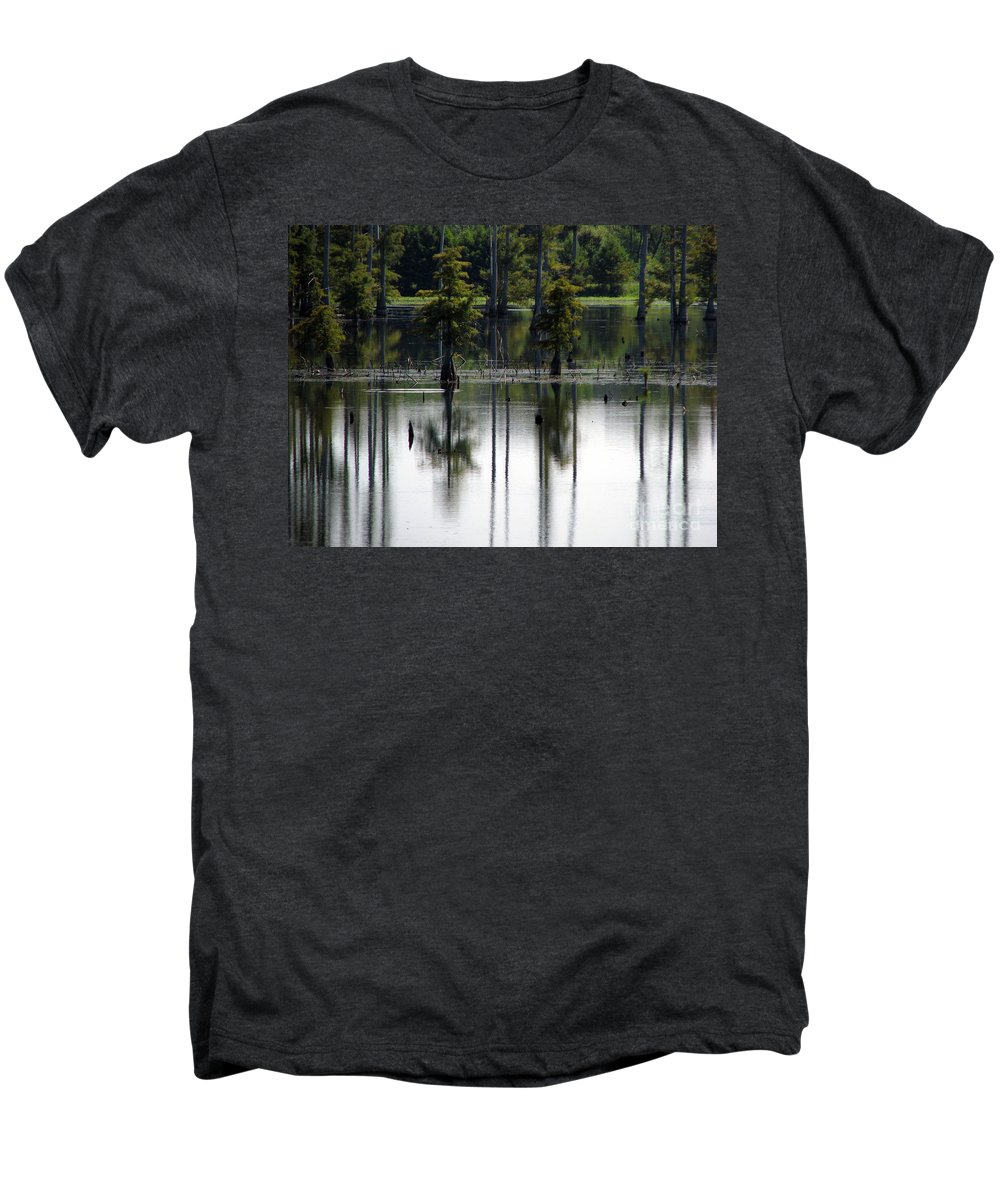 Wetlands Men's Premium T-Shirt featuring the photograph Wetland by Amanda Barcon
