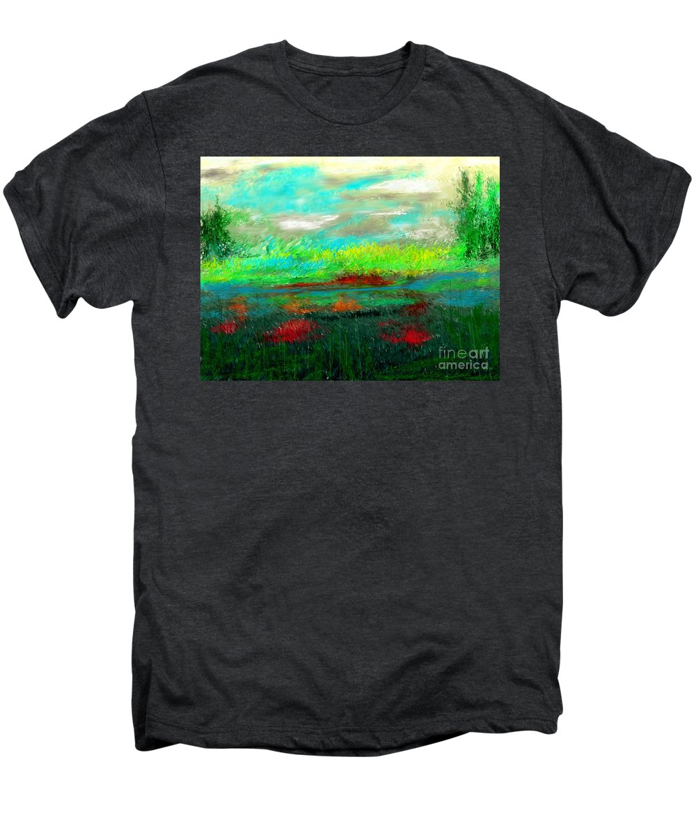 Nature Men's Premium T-Shirt featuring the digital art Wetlands by David Lane