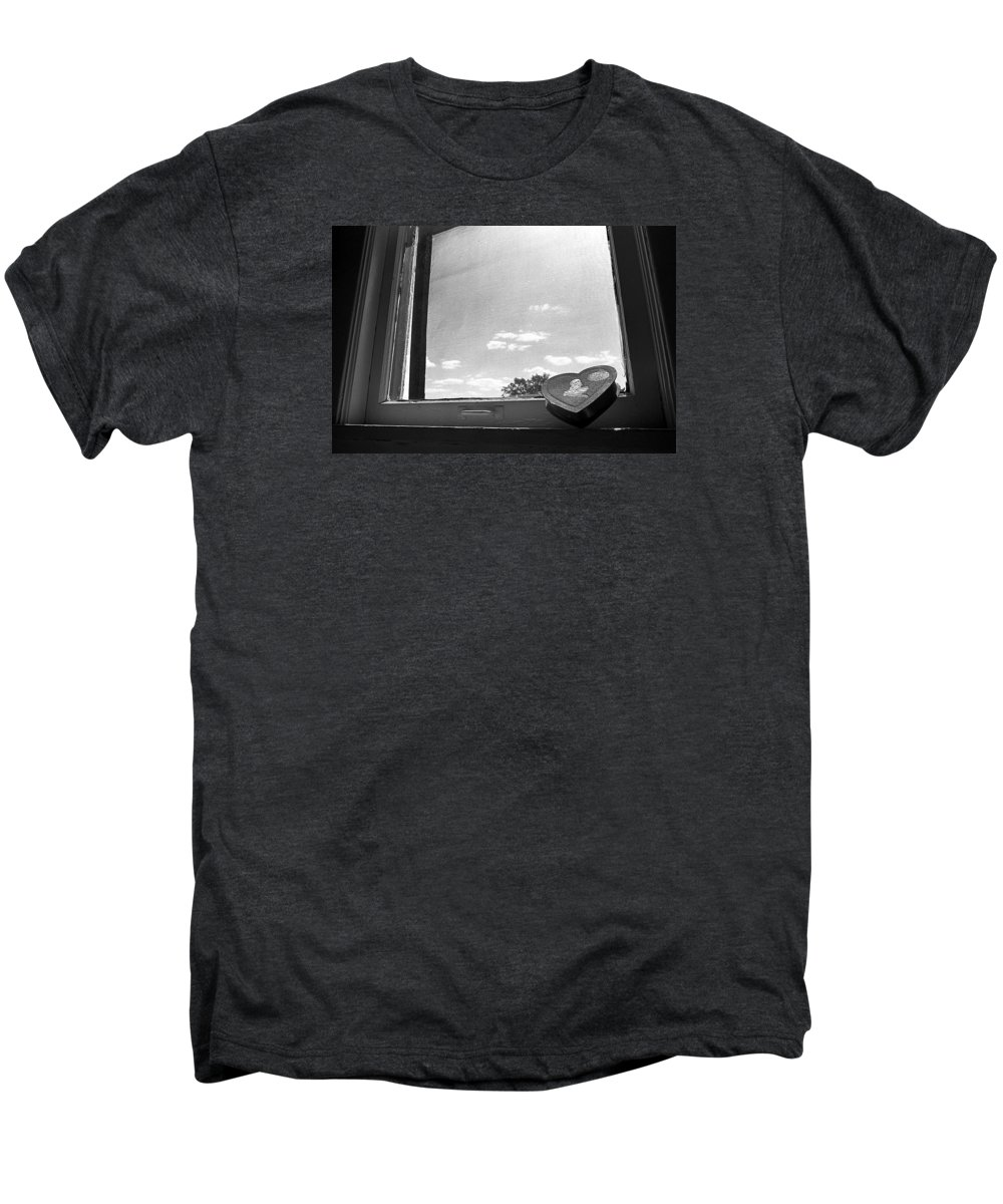 Window Men's Premium T-Shirt featuring the photograph What Remains by Ted M Tubbs