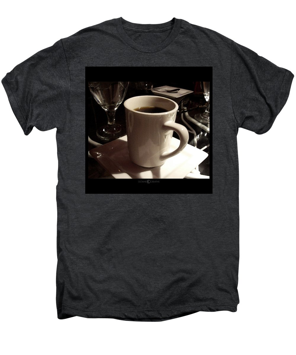 White Men's Premium T-Shirt featuring the photograph White Cup by Tim Nyberg