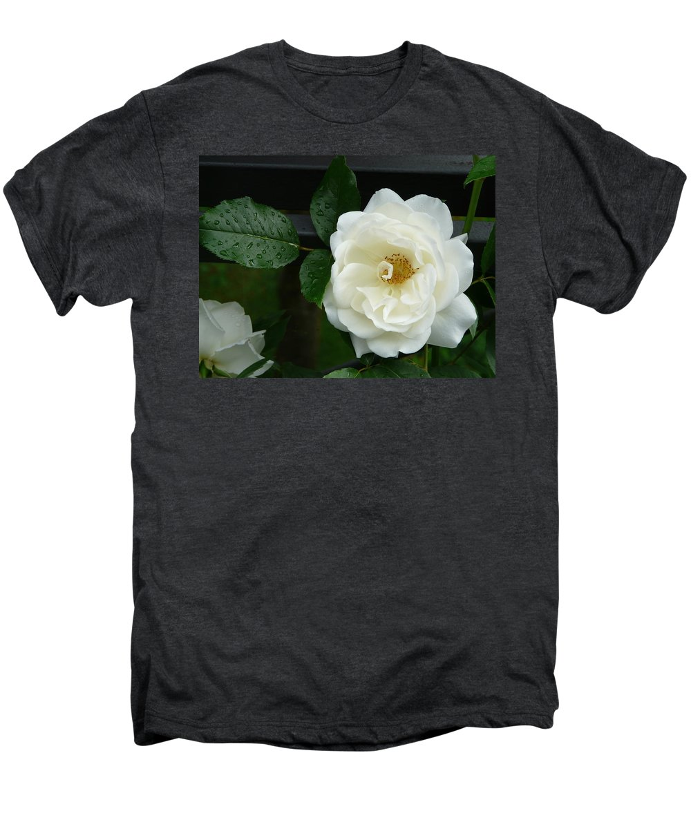 Rose Men's Premium T-Shirt featuring the photograph White Rose by Valerie Ornstein