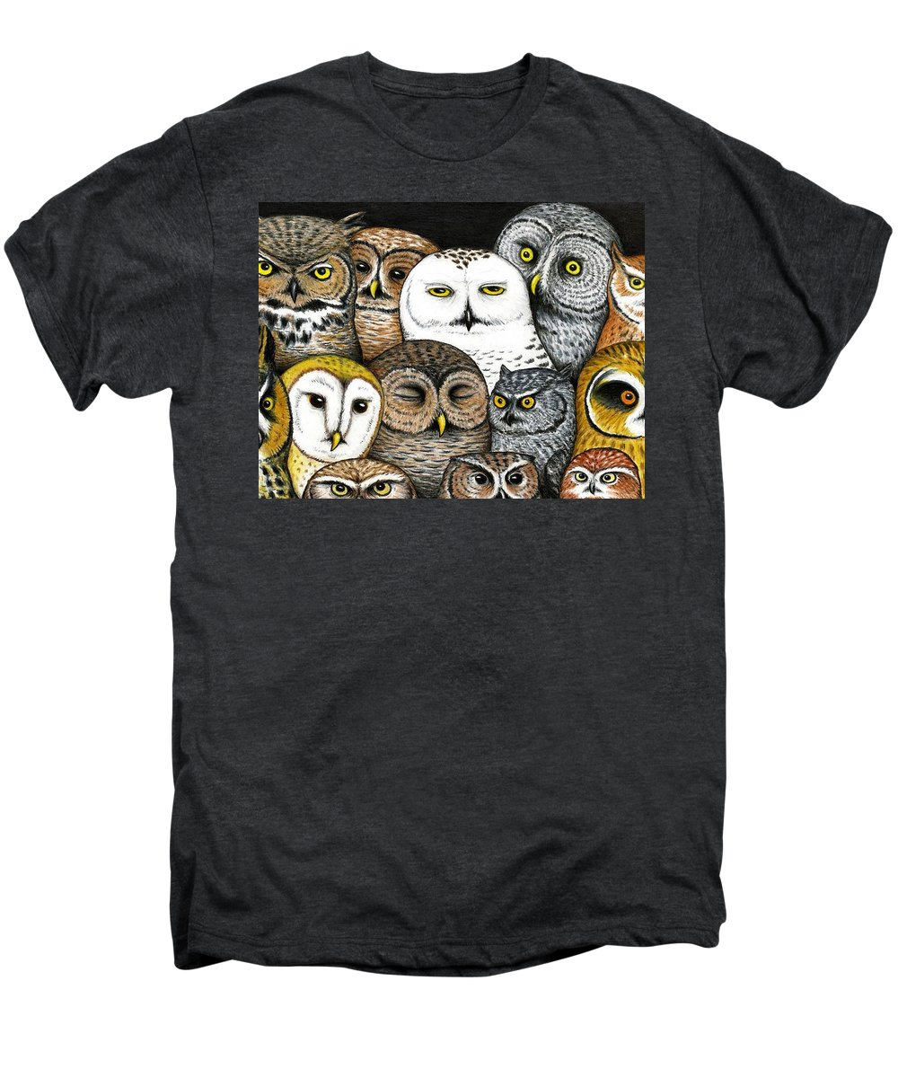 Art Men's Premium T-Shirt featuring the painting Who's Hoo by Don McMahon