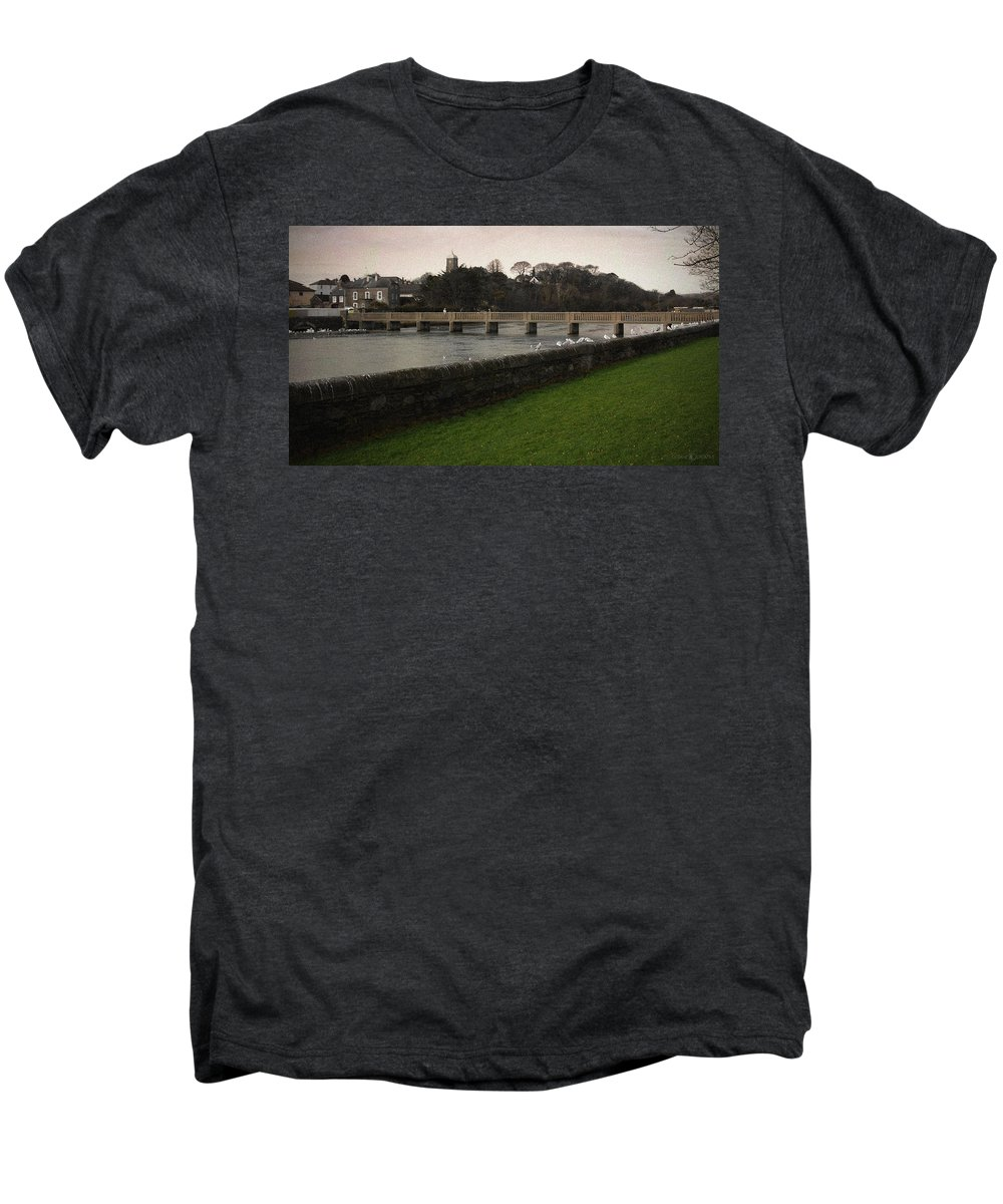 Footbridge Men's Premium T-Shirt featuring the photograph Wicklow Footbridge by Tim Nyberg