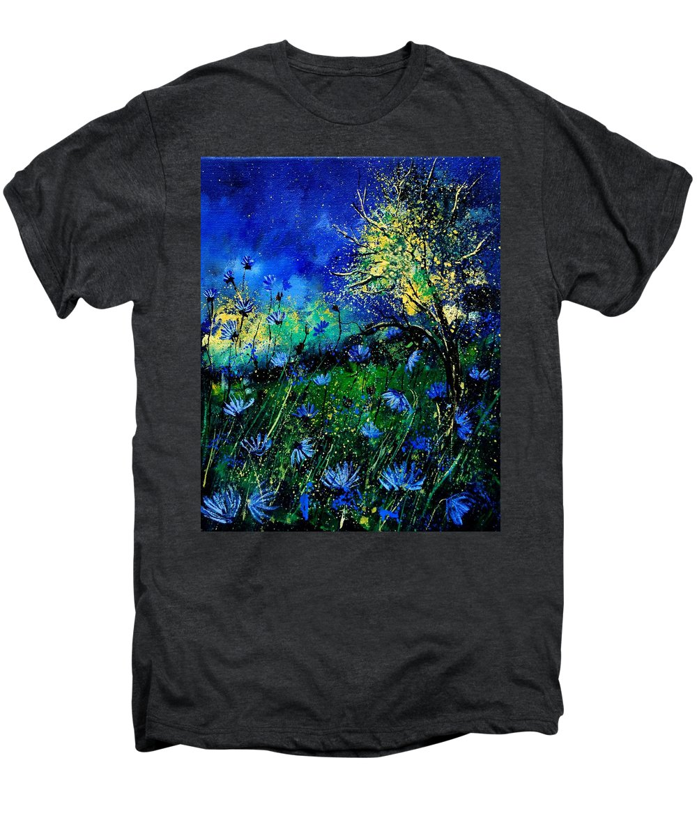 Poppies Men's Premium T-Shirt featuring the painting Wild Chocoree by Pol Ledent