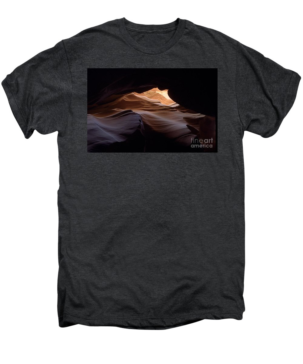 Antelope Canyon Men's Premium T-Shirt featuring the photograph Wind And Water by Kathy McClure