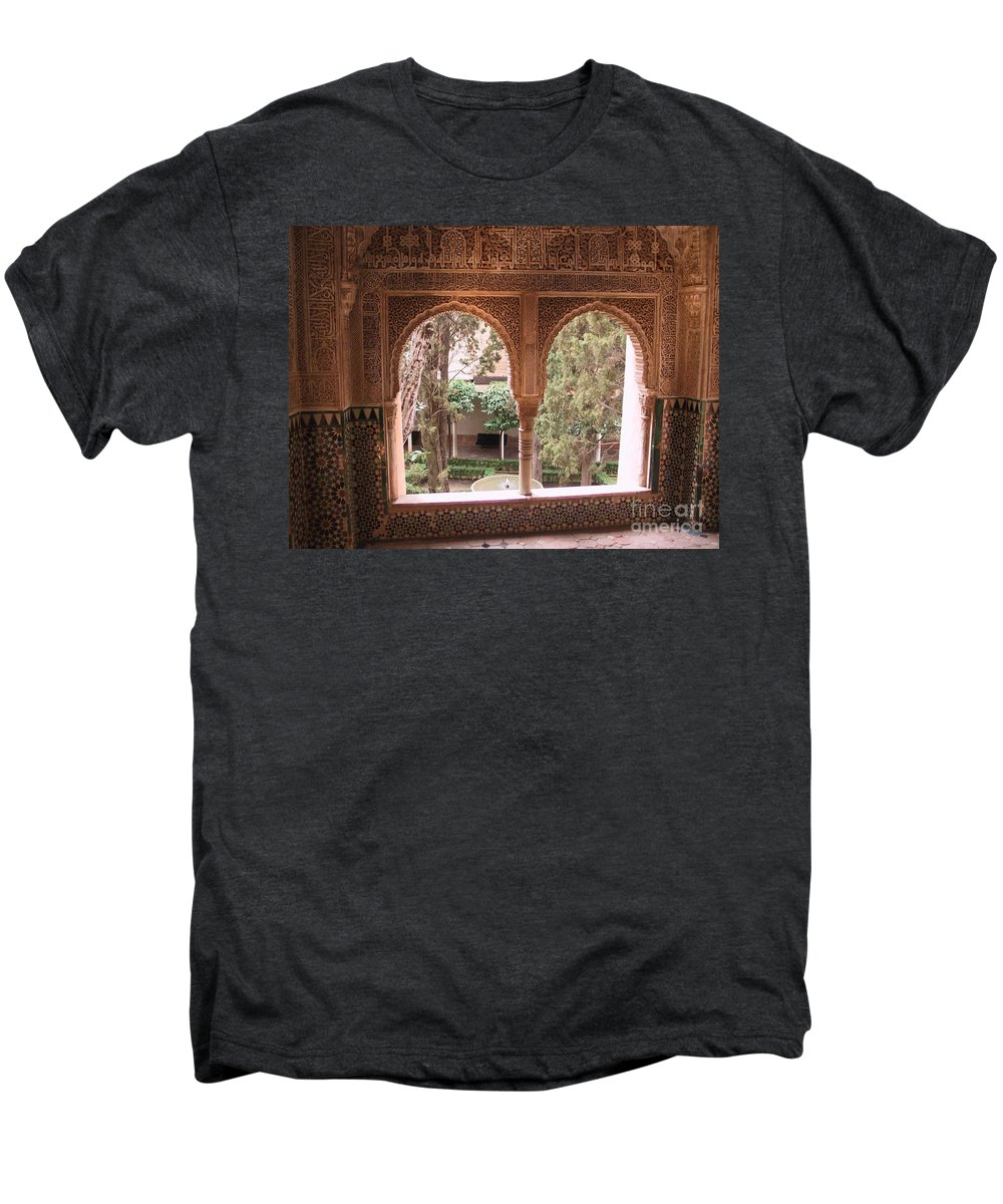 Window Men's Premium T-Shirt featuring the photograph Window In La Alhambra by Thomas Marchessault