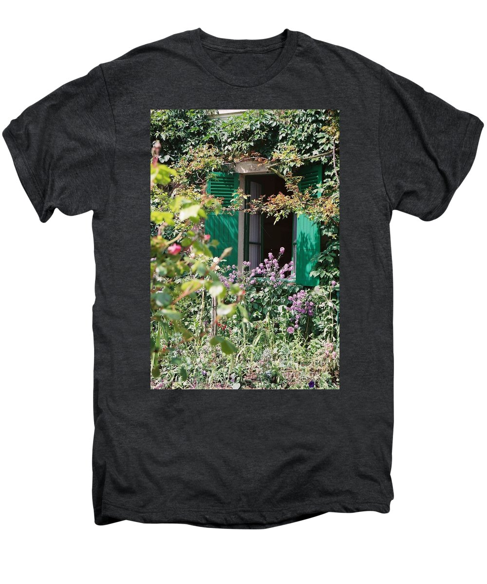 Charming Men's Premium T-Shirt featuring the photograph Window To Monet by Nadine Rippelmeyer