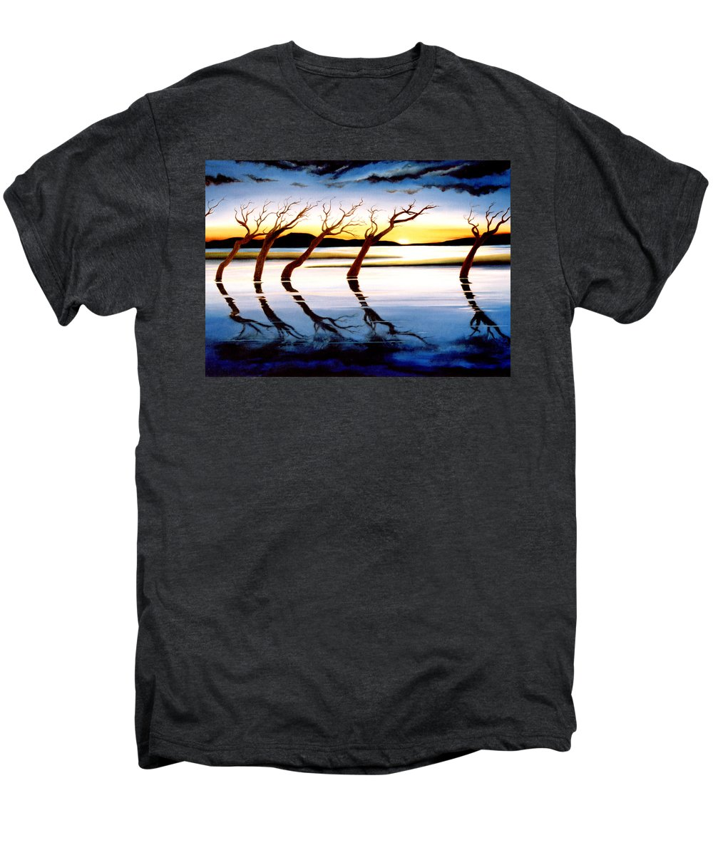 Seascape Men's Premium T-Shirt featuring the painting Winter Heatwave by Mark Cawood