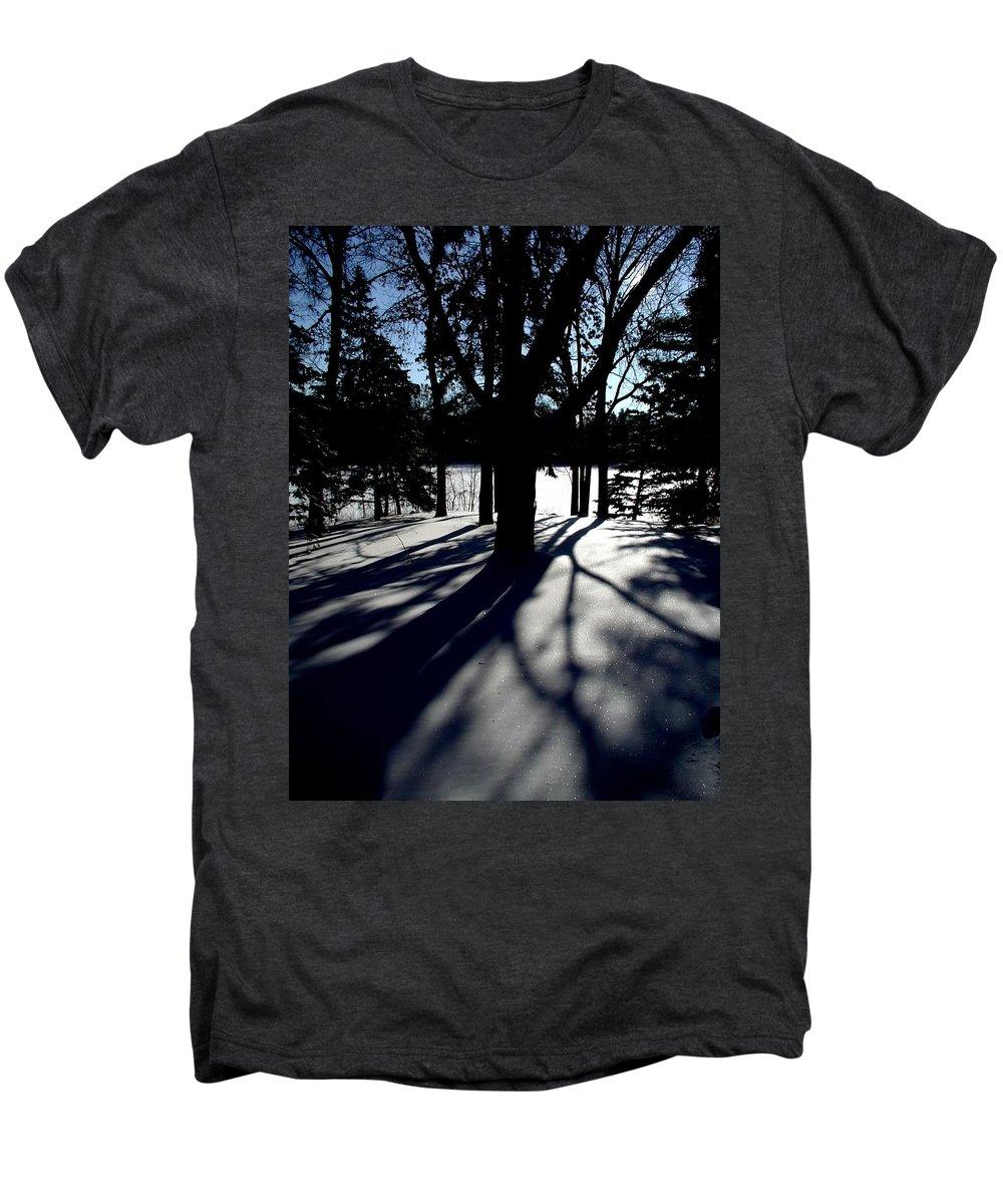 Landscape Men's Premium T-Shirt featuring the photograph Winter Shadows 2 by Tom Reynen
