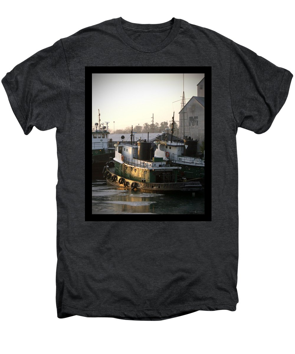 Tugs Men's Premium T-Shirt featuring the photograph Winter Tugs by Tim Nyberg