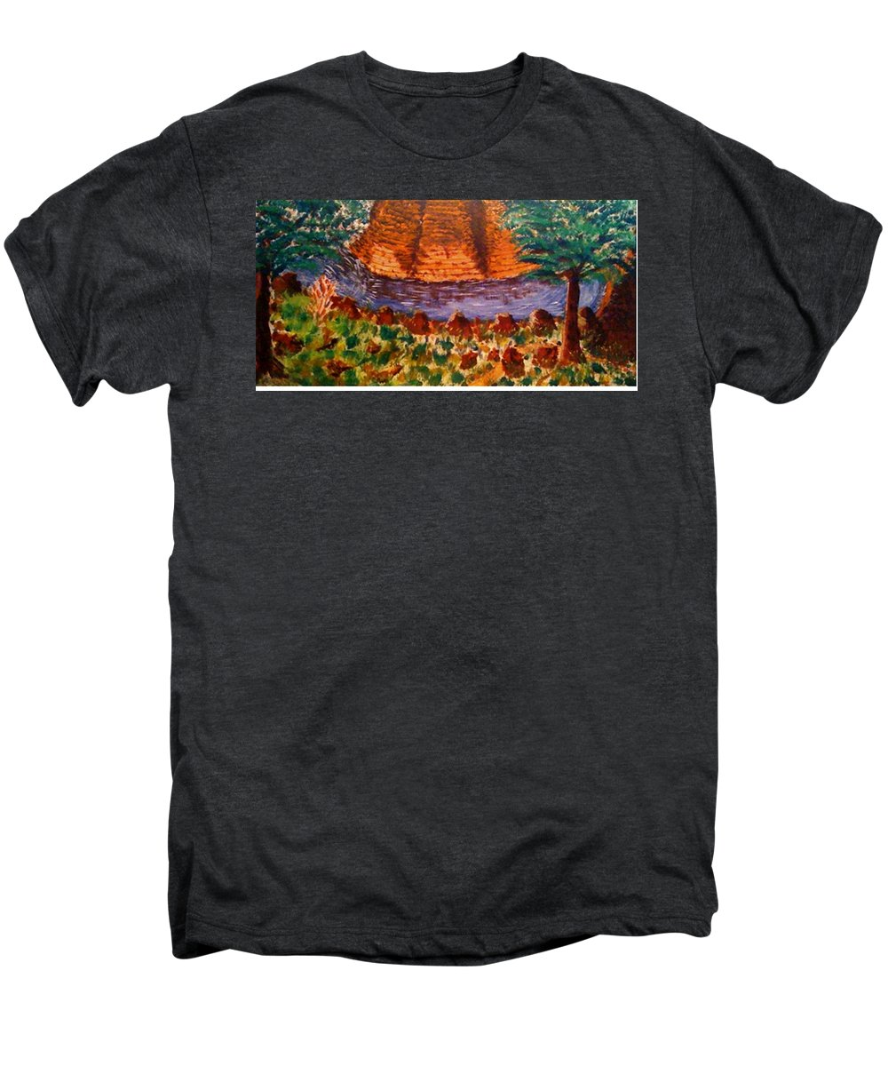 Nature Men's Premium T-Shirt featuring the painting Wonder by R B