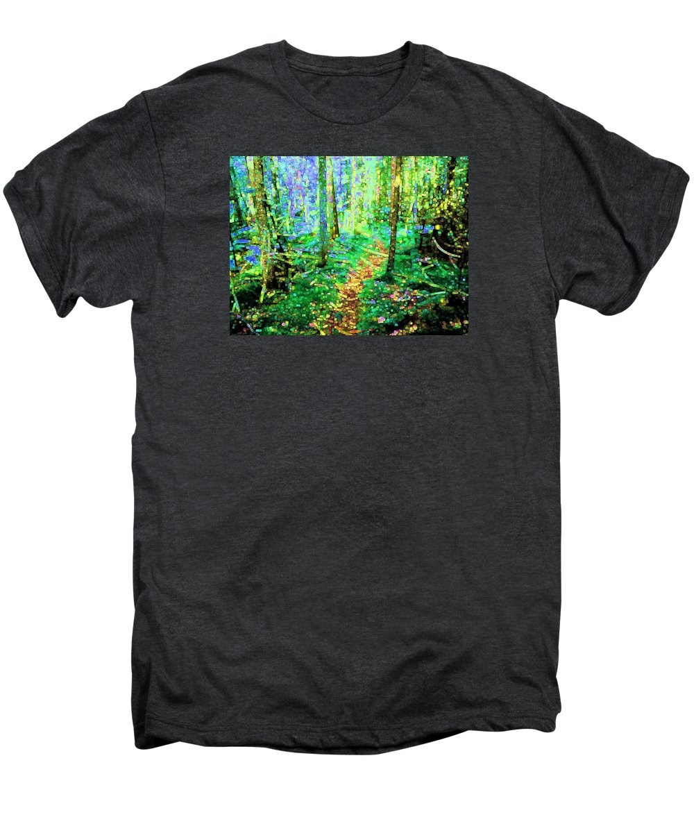 Nature Men's Premium T-Shirt featuring the digital art Wooded Trail by Dave Martsolf