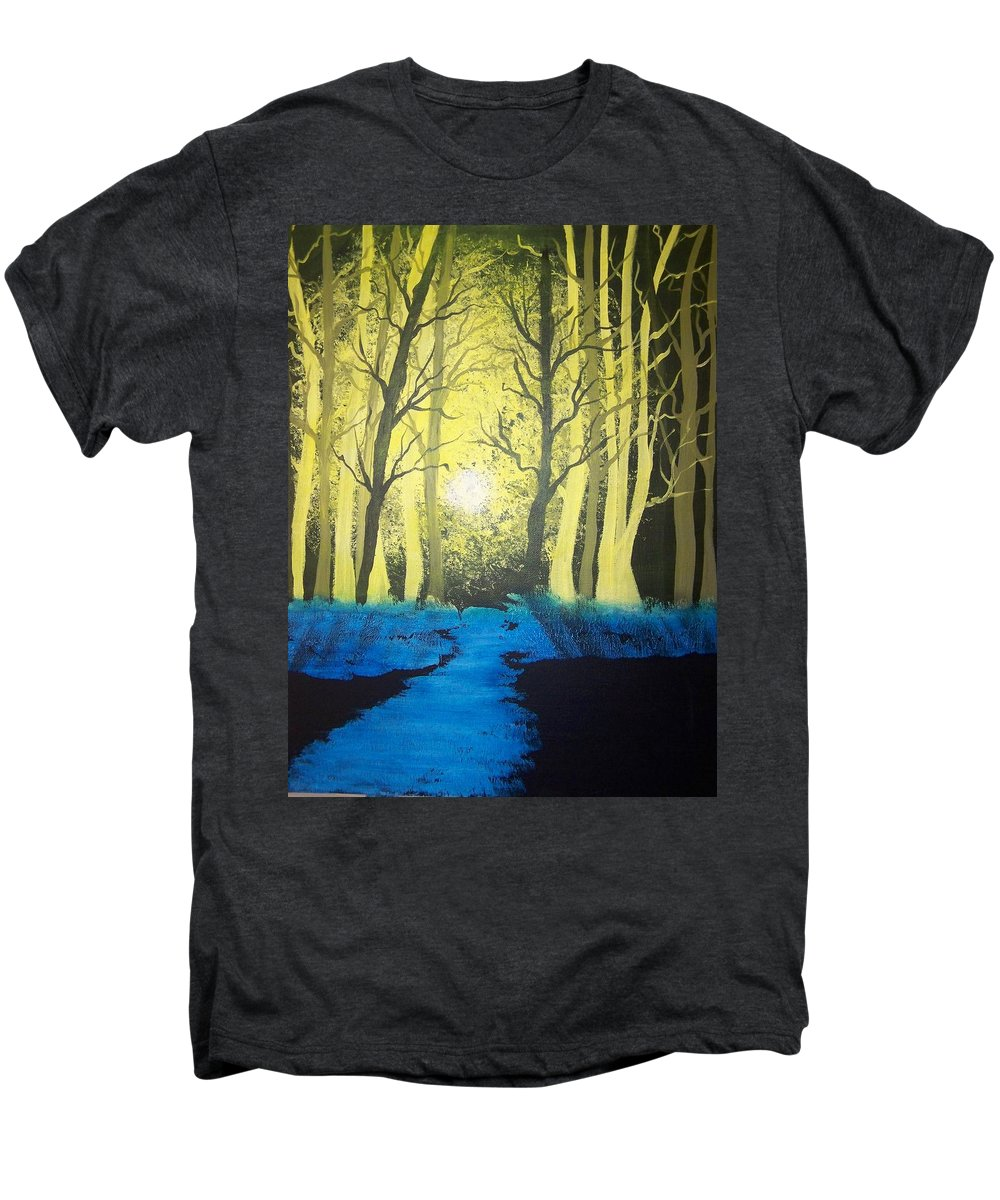 Forest Men's Premium T-Shirt featuring the painting You Cant See The Forest For The Trees by Laurie Kidd