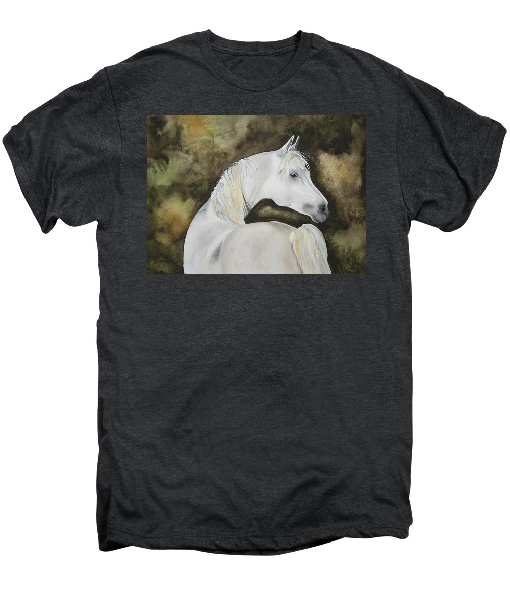 Horse Men's Premium T-Shirt featuring the painting You Talking To Me by Jean Blackmer