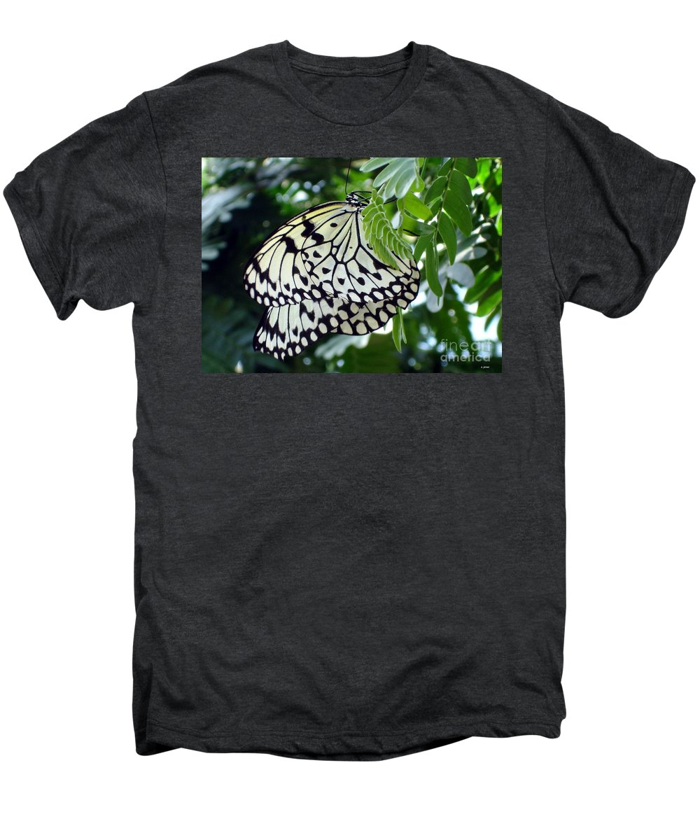 Butterfly Men's Premium T-Shirt featuring the photograph Zebra In Disguise by Shelley Jones