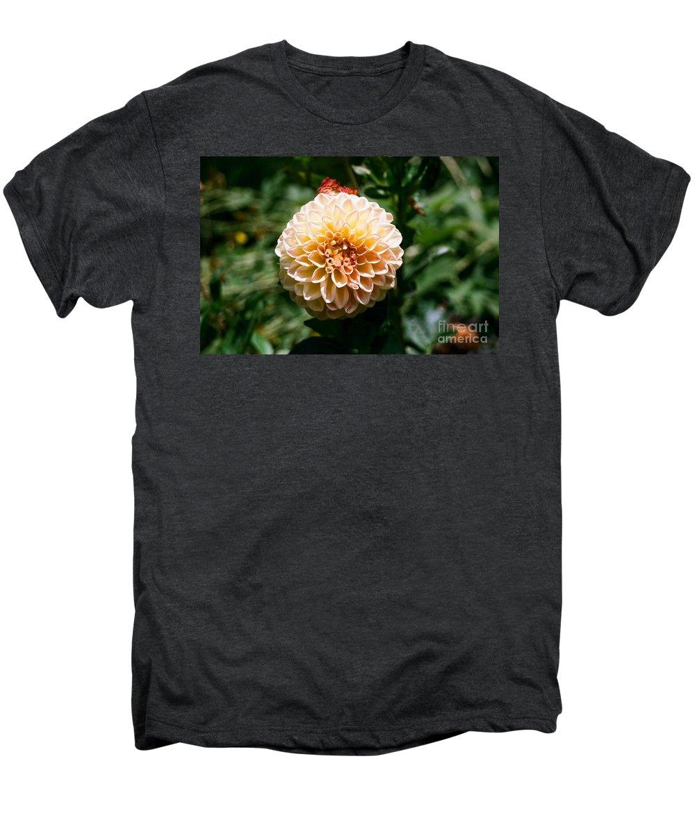 Zinnia Men's Premium T-Shirt featuring the photograph Zinnia by Dean Triolo