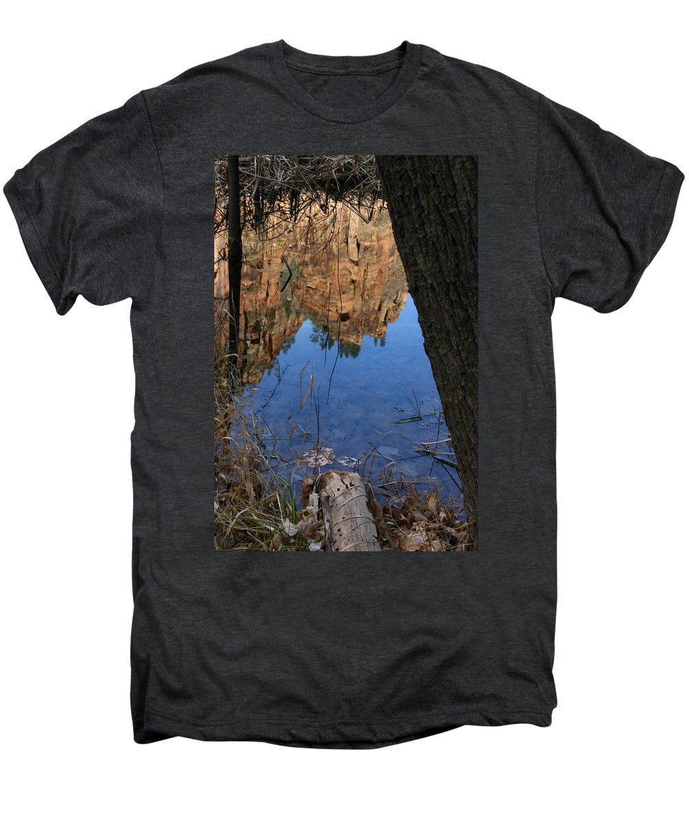 Zion Men's Premium T-Shirt featuring the photograph Zion Reflections by Nelson Strong