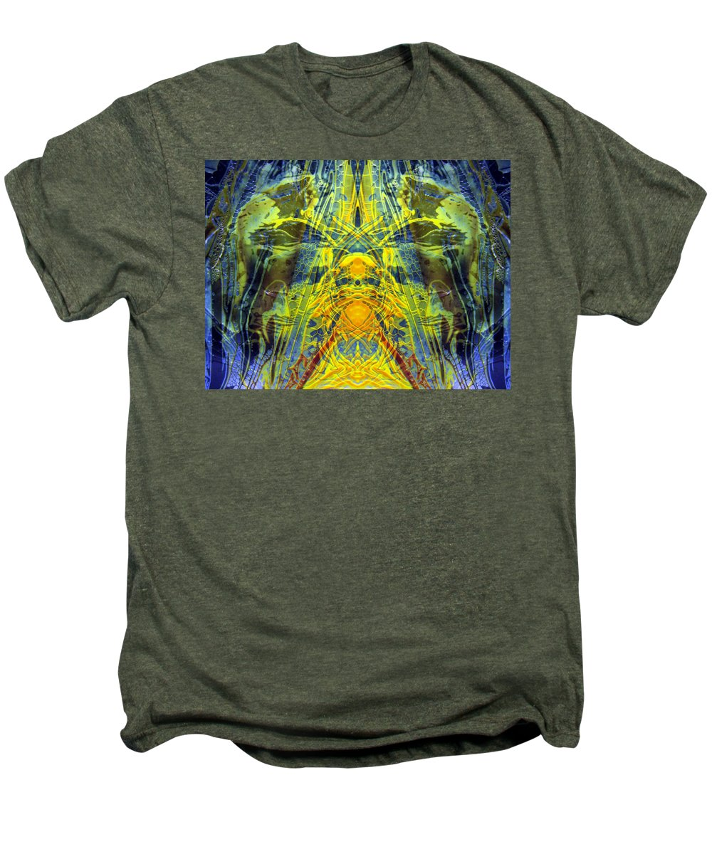 Surrealism Men's Premium T-Shirt featuring the digital art Decalcomaniac Intersection 1 by Otto Rapp