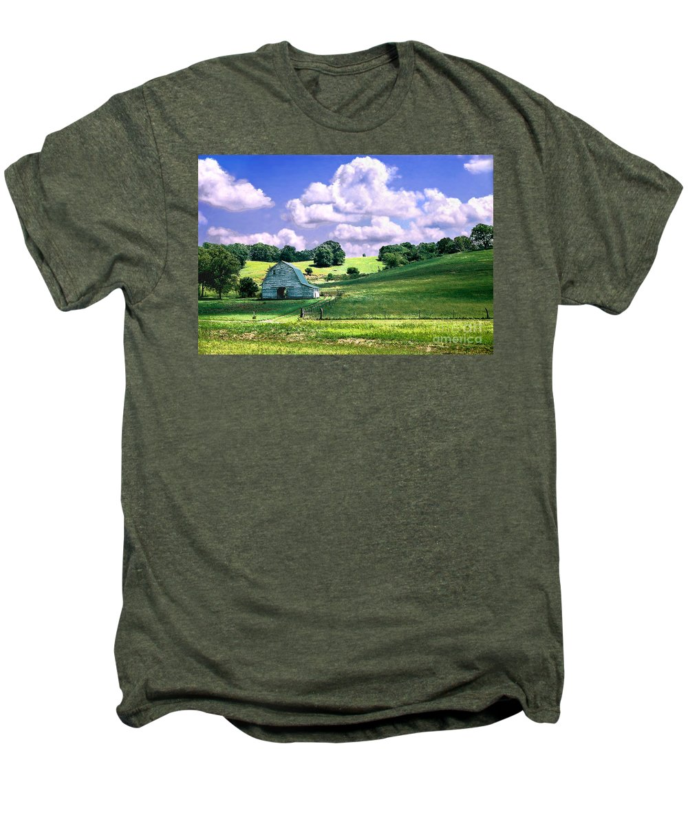 Landscape Men's Premium T-Shirt featuring the photograph Missouri River Valley by Steve Karol