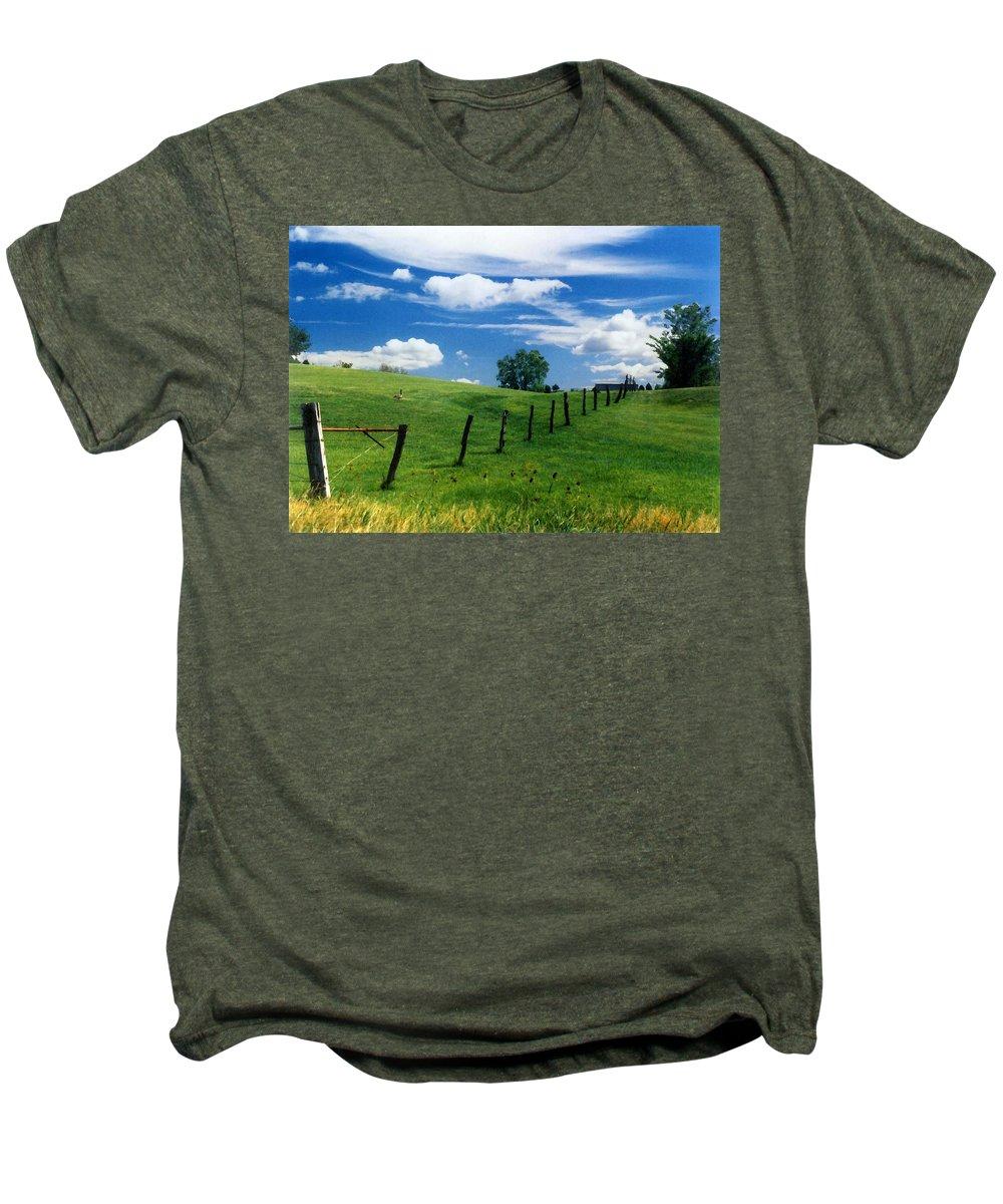 Summer Landscape Men's Premium T-Shirt featuring the photograph Summer Landscape by Steve Karol