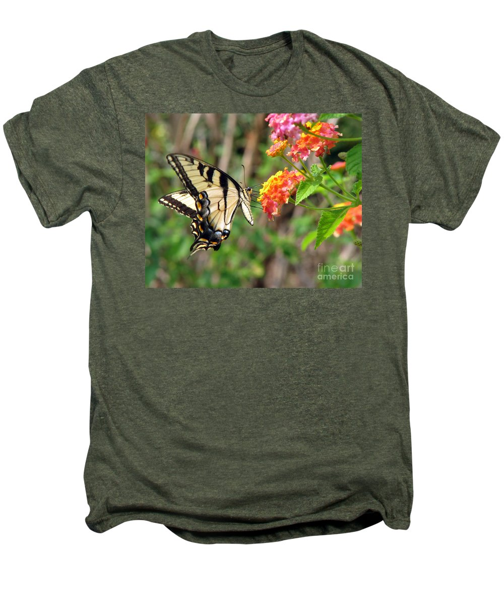 Butterfly Men's Premium T-Shirt featuring the photograph Butterfly by Amanda Barcon