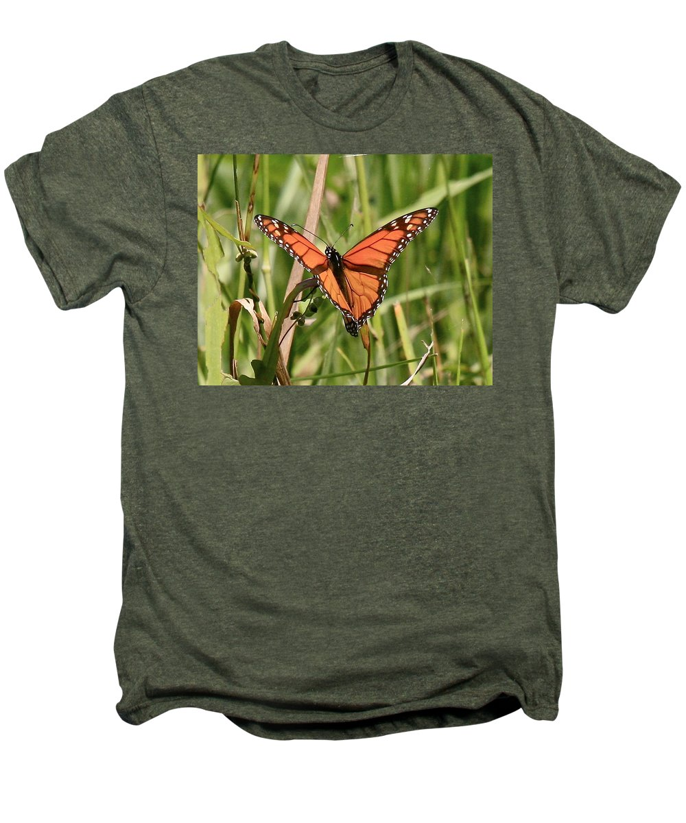 Butterfly Men's Premium T-Shirt featuring the photograph Drying My Wings by Robert Pearson